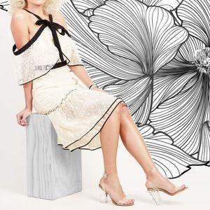 Adelyn Rae Marissa Ivory Lace Bow Dress NWOT